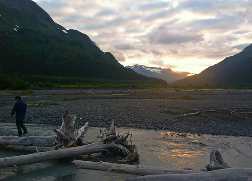 looking towards Exit Glacier