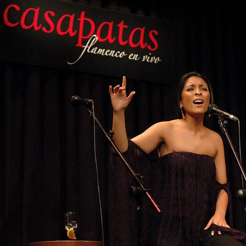 Triana Heredia en los Pellizcos Flamencos de Casa Patas. Foto: Martín Guerrero