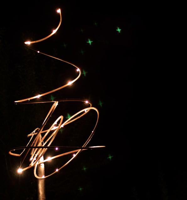 Sculpture lumière de Claude Nessi