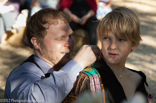 Max gives Caspian a talisman representing Max and Caspian's new relationship as father and son..