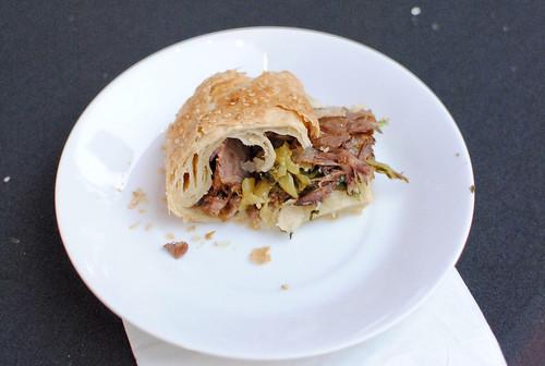 Huge Tree Pastry beef roll