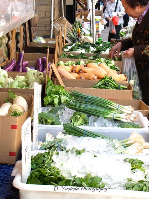 Chinatown vegetables vendor