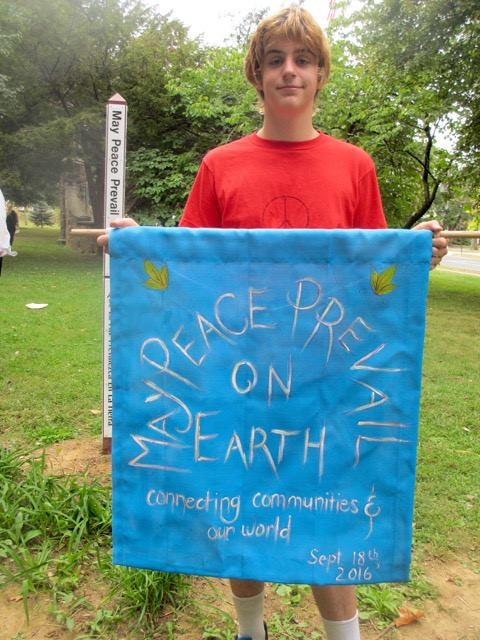 Bethlehem, PA - Peace Pole Planting during CNV Week of Actions 2016 (14)