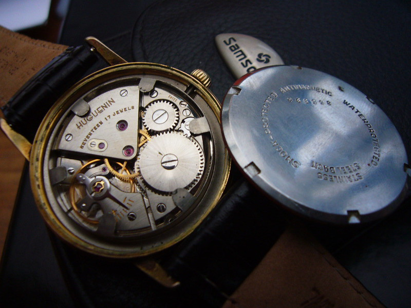 Huguenin Vintage Watch - watch movement