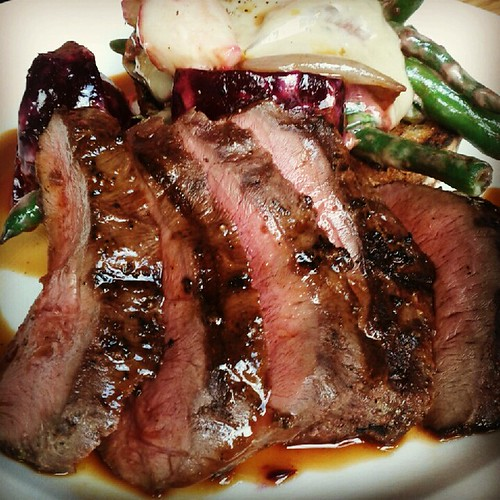 Grilled ox heart at Lawrence
