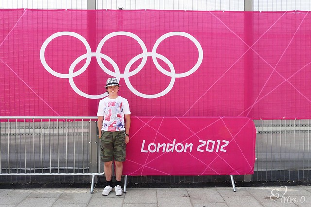 About to go into the Olympic Park