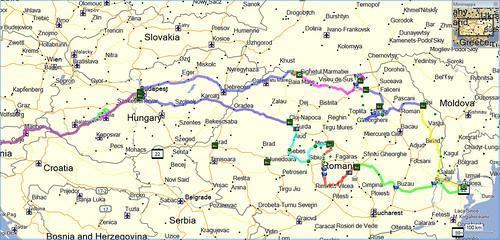 Il percorso del mio viaggio in Romania