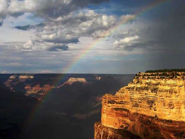 Rainbows at the Grand Canyon