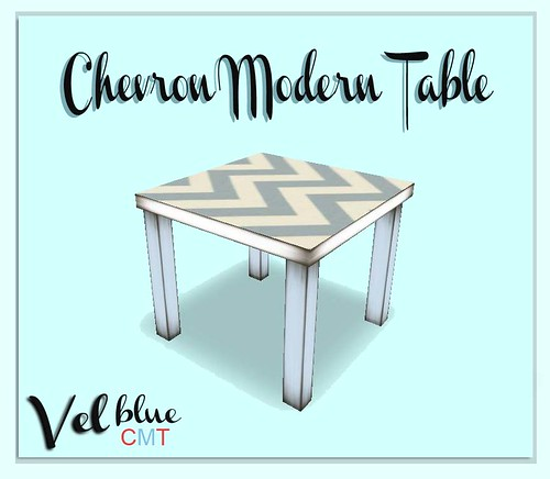 Vel, Chevron Modern Table