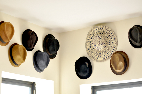 Elegant Creative Storage Ideas Hat Wall Art Storage Fedora DIY Storage