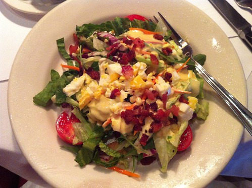 traditional salad with honey mustard & hot bacon