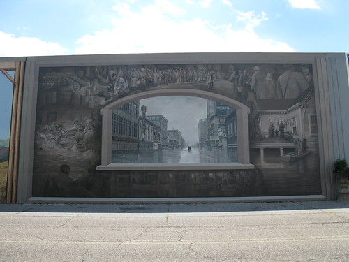 1937 Flood at Portsmouth, Ohio (floodwall mural by Robert Dafford, photo by the author)