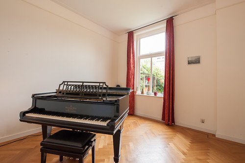 The piano room in the Dutch Monument House in Utrecht
