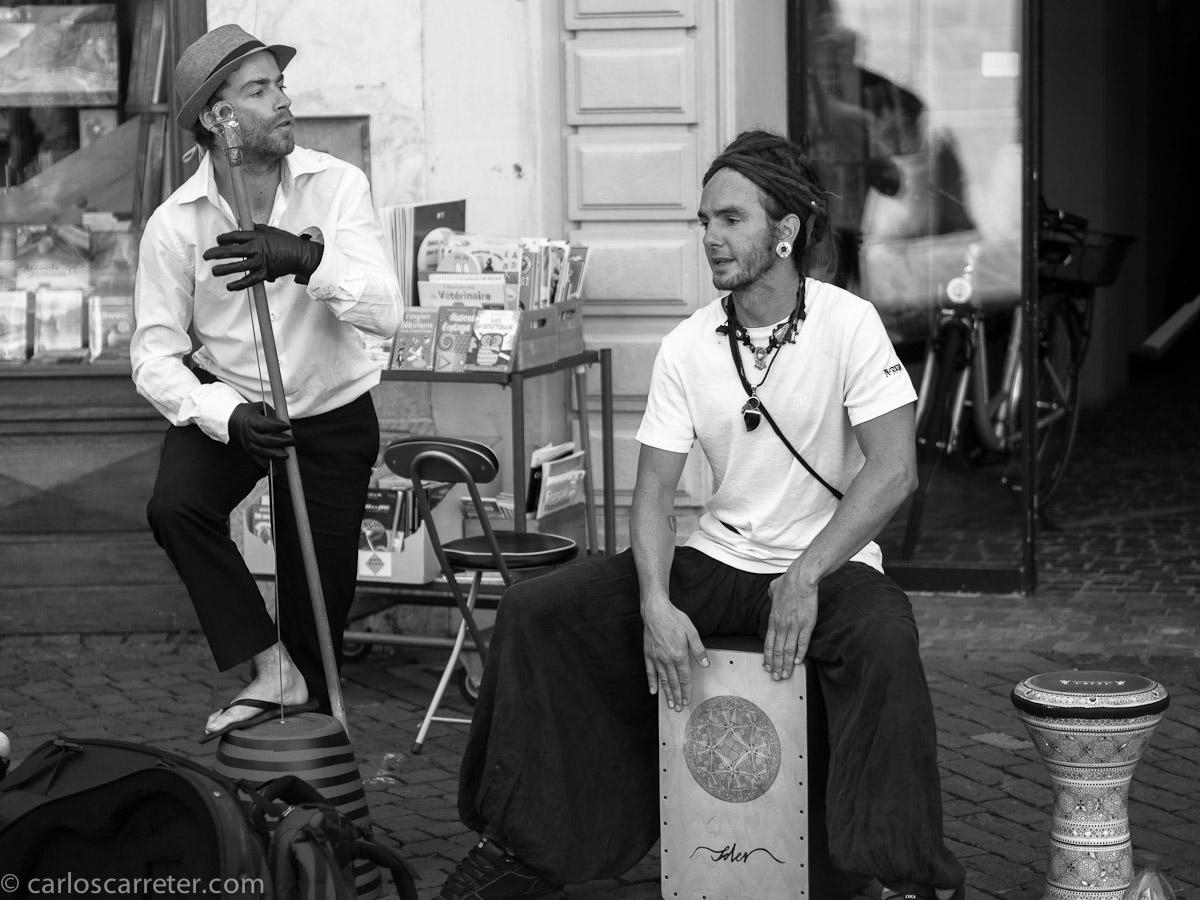 Músicos callejeros del este de Europa