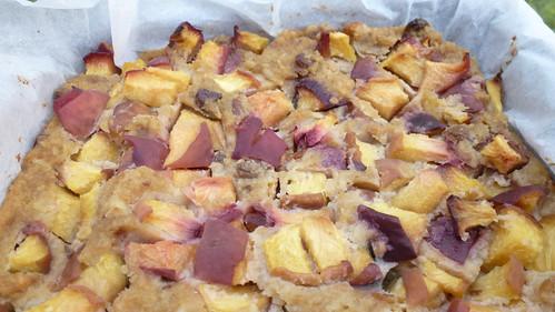 Bread & Peach cake - Torta di pane & Pesche