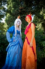 Ice queen Flame Princess from Adventure Time