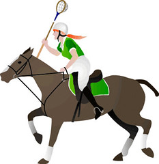 Polocrosse Player.