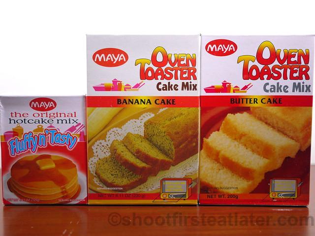 Maya Hotcake, Banana Cake & Butter Cake Mixes