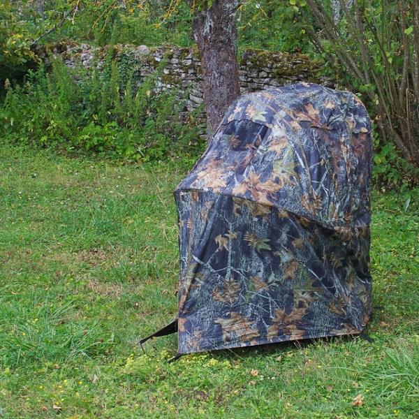 Tente chaise affût, au fond de mon jardin