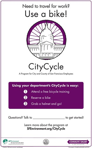 City Cycle information poster