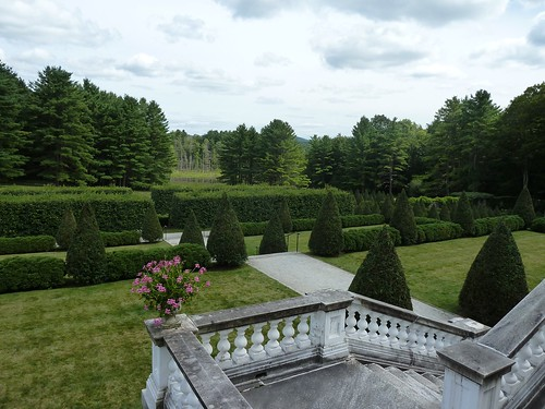 The gardens from the patio.