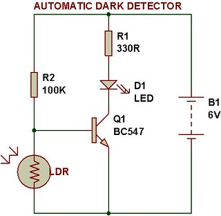 Dark light sensor