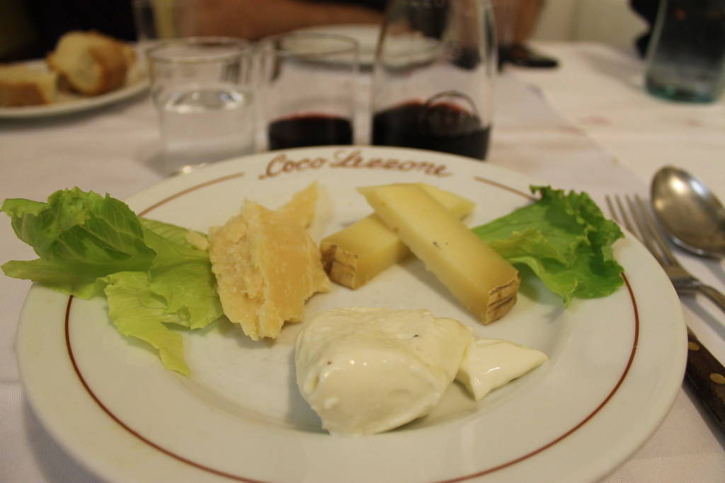 Trío de quesos italianos