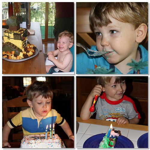 Alex turns 1, 2, 3, and 4.