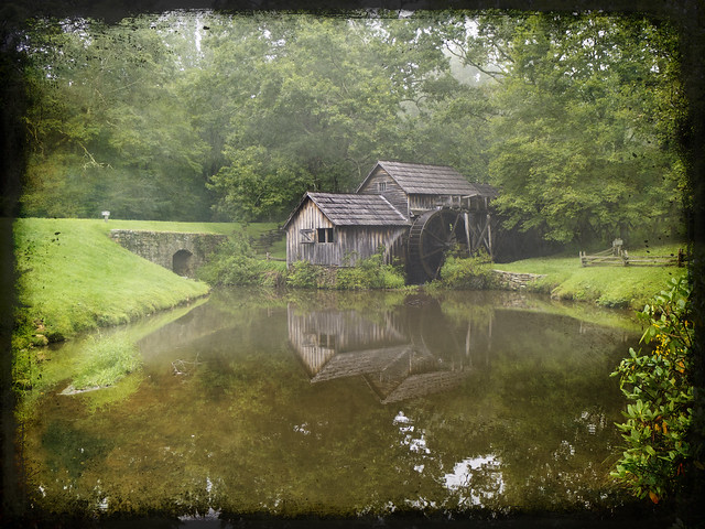 Mabry Mill with Texture