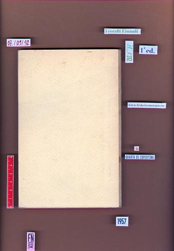 Italo Calvino, Il visconte dimezzato. Einaudi 1957. i coralli  78. Quarta di copertina