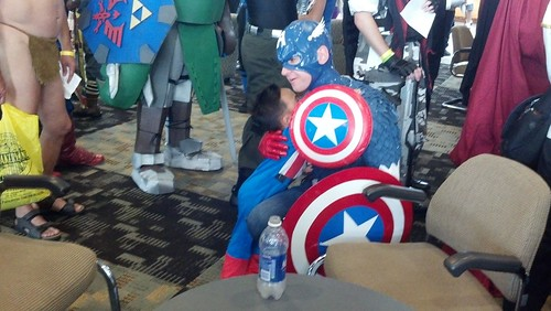 Two Captain Americas at 2012 Baltimore Comic-Con