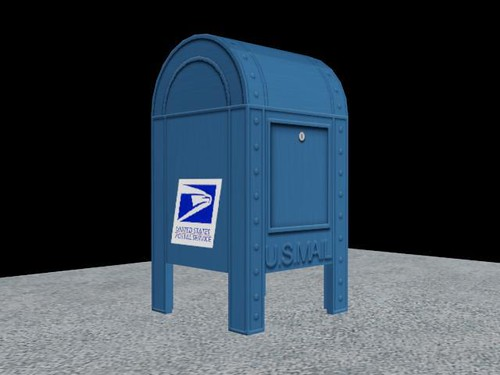 Post Office Mail Box Rear View