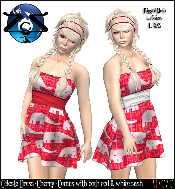 ZcZ Celeste Dress - Cherry