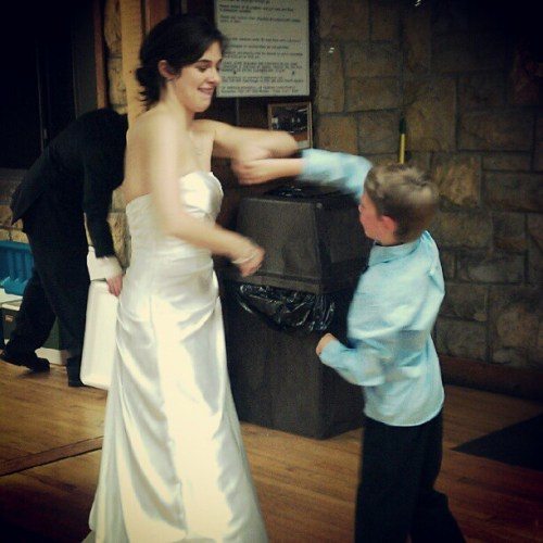 Ethan danced with the bride. Choked me up.
