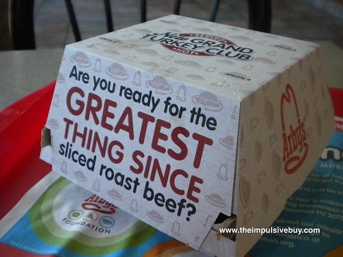 Arby's Grand Turkey Club Turkey Roaster Box