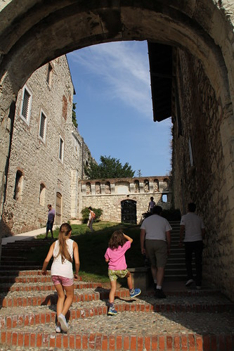 Climbing through the castello
