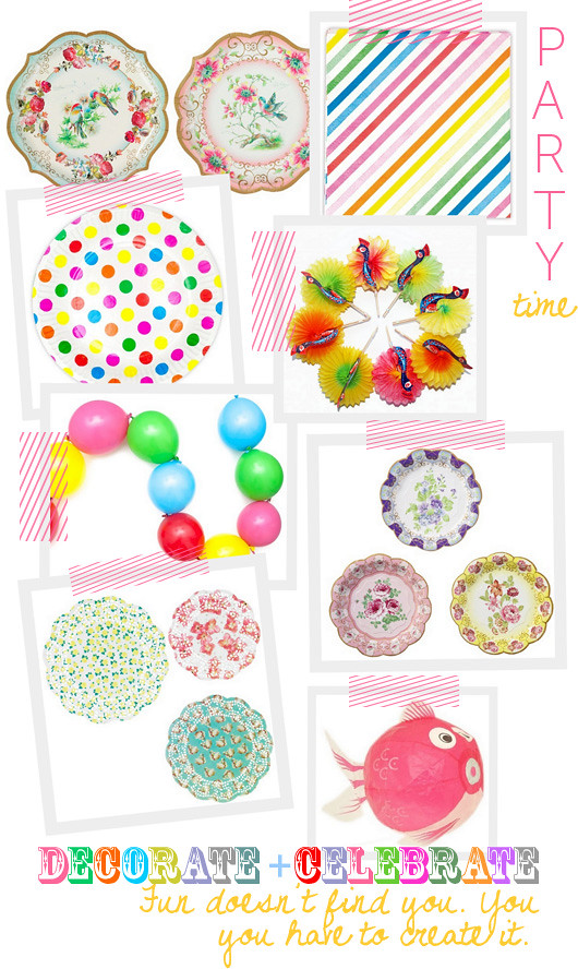 Party Time: Cute Supplies