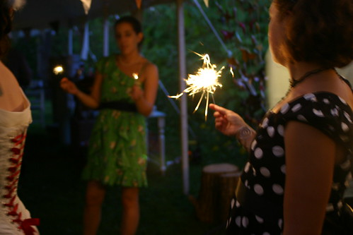 Three with sparklers