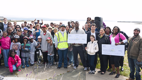 press conference at the Blue Greenway, Hunters Point, San Francsico