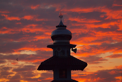 240/366 - Tower in red sky by Flubie