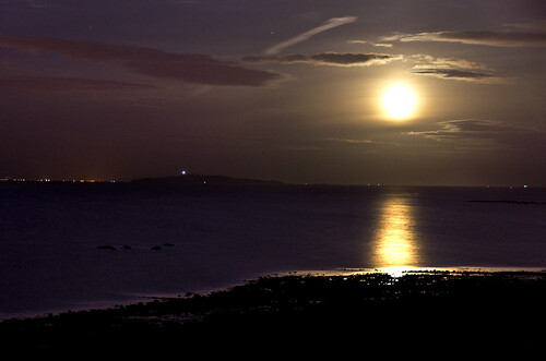 Moonrise over the Forth 5 Sept 2012