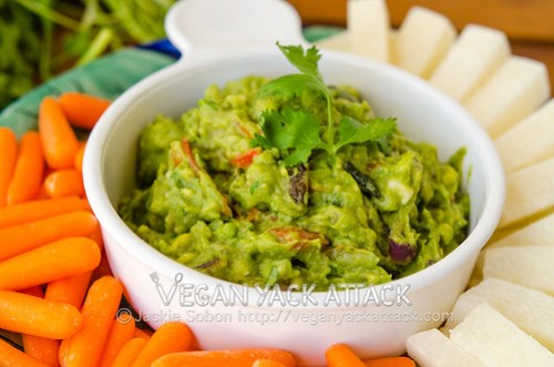 Roasted Veggie Guacamole: Not your typical Guacamole, this dip is filled with roasted veggies that bring a caramelized sweetness to its refreshing base.