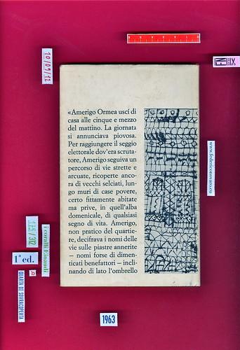Italo Calvino, La giornata d'uno scrutatore. Einaudi 1963. i coralli 175. Quarta di sovracoperta