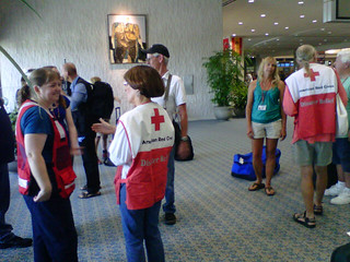 Isaac: Volunteers assembling in Tampa