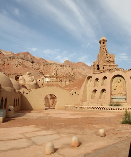 Remaking of the Silk Road near the Flaming Mountains outside Turpan