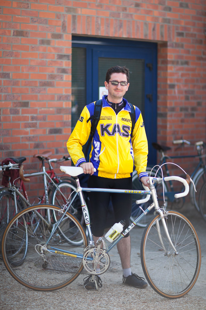 Vincent and his Vitus from the KAS Mavic team