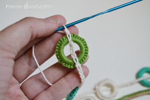 Crocheted Necklace Tutorial Step 5
