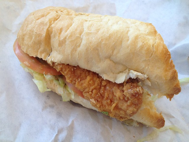 Fried catfish po boy - Queen's Louisiana Po-Boy Cafe