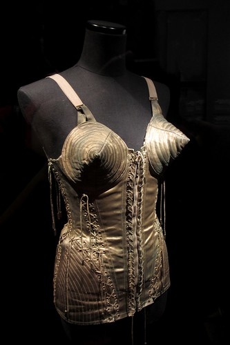 Corset worn by Madonna during her Blonde Ambition Tour, 1990.