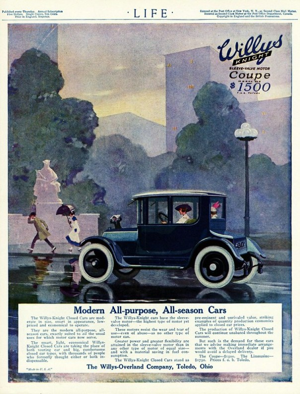 1916 Willys-Knight Coupe - published in Life